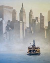 Hudson River Crossing Lower Manhattan