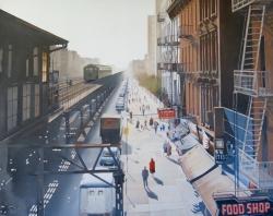 Third Ave. EL at 116th St. New York City